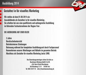 Ausbildung 2014